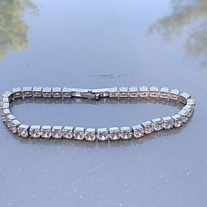 11.40ctw white topaz tennis bracelet